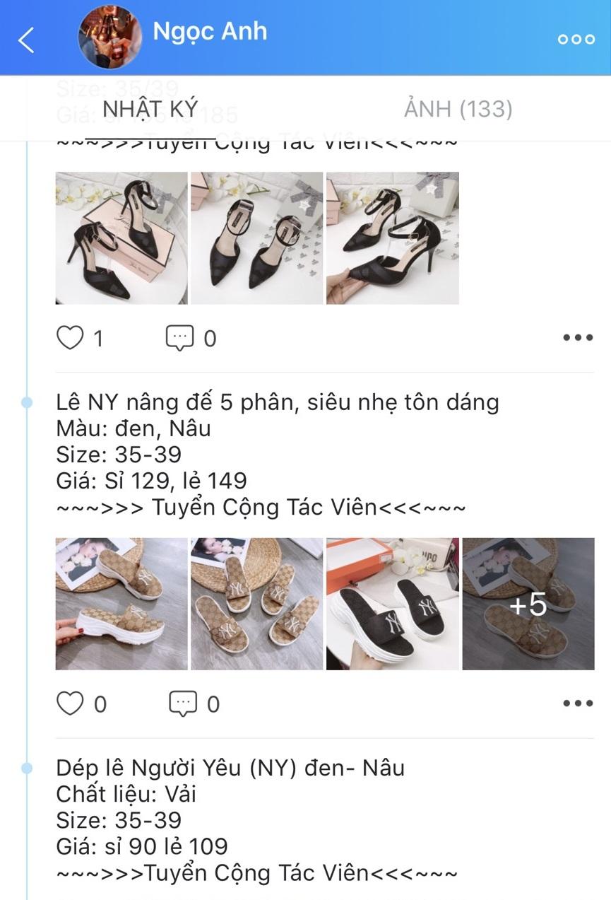 kinh doanh thời trang trên Zalo cá nhân