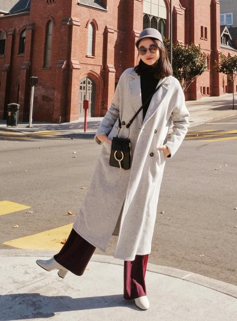 Áo khoác dài và quần ống rộng, combo mặc kiểu gì cũng đẹp cho mùa ...