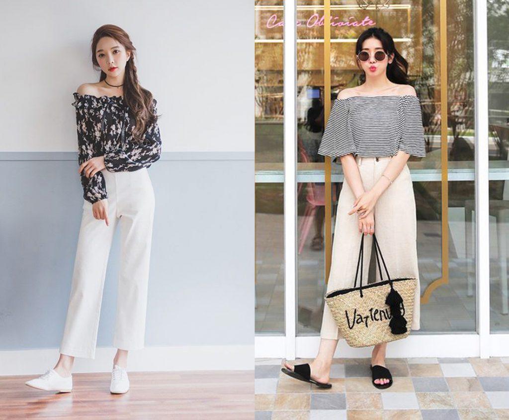 Top 4 cách phối đồ quần ống rộng khiến các nàng luôn mặc đẹp mỗi ngày