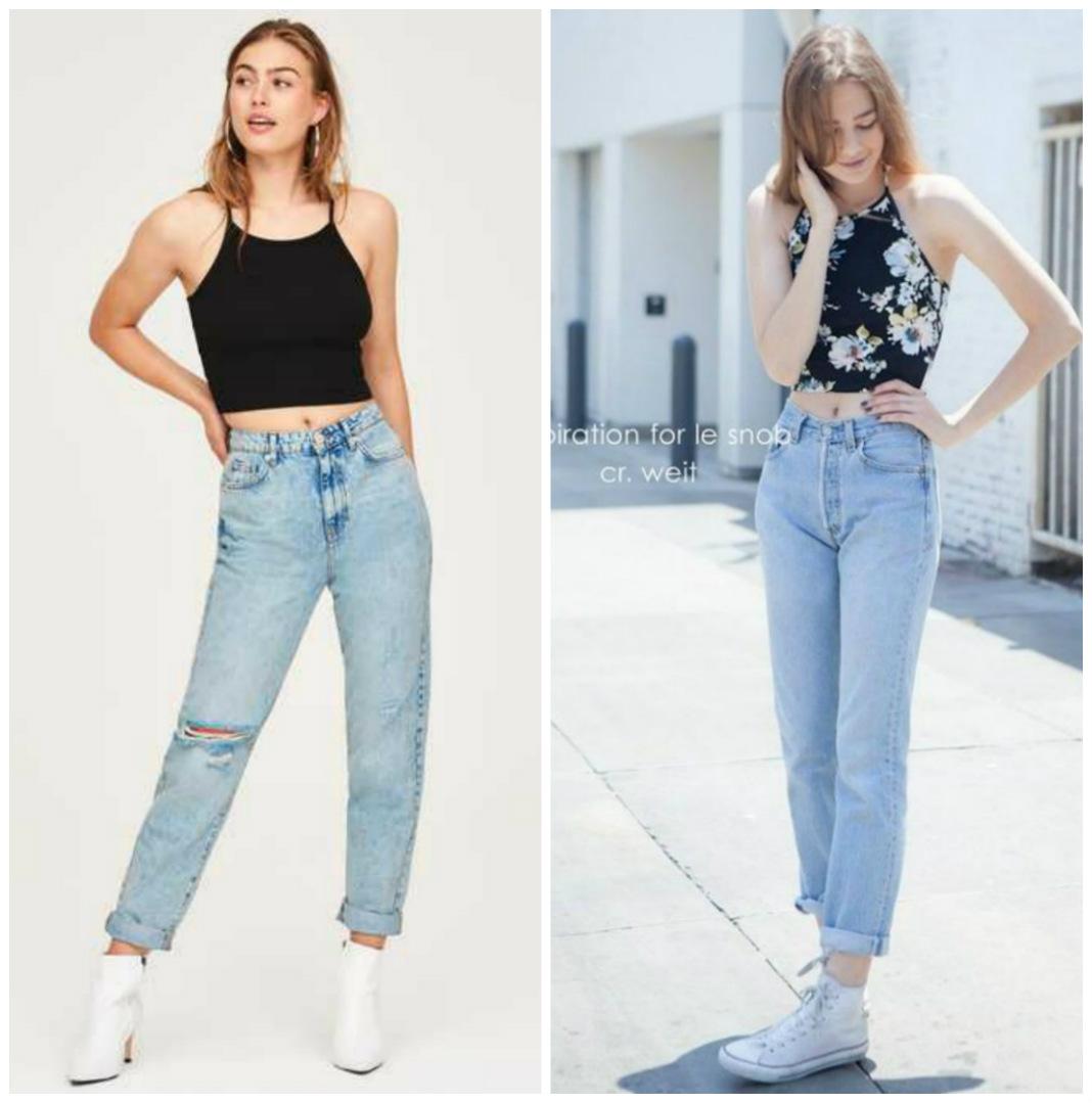 Phối quần baggy jean