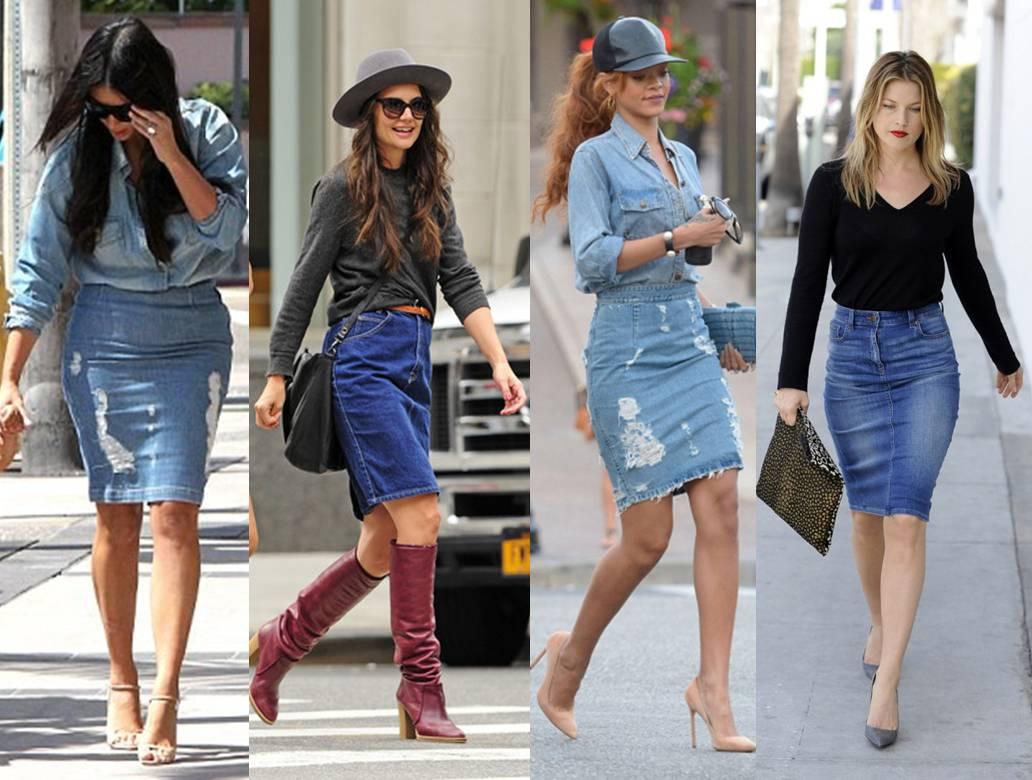Phối đồ chân váy jean