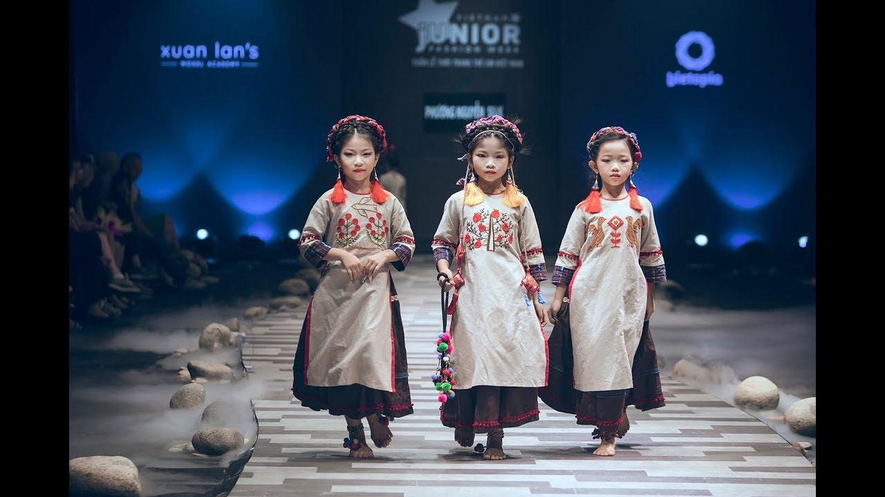 Áo dài trẻ em Phương Nguyễn Silk - BST Xuân Trên Rẻo Cao - YouTube