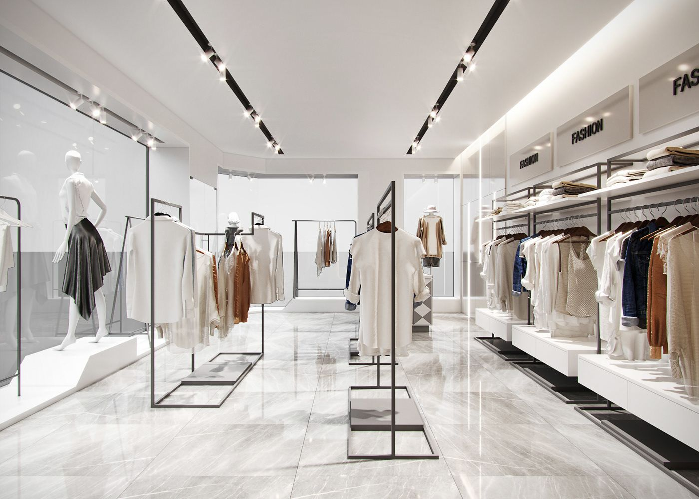 Shop Fashion on Behance | Fashion shop interior, Store design interior,  Store design boutique